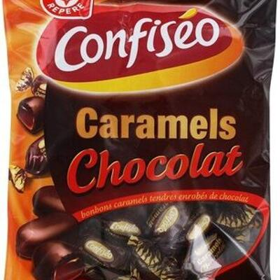 Bonbons caramel enrobés de chocolat (Confiséo)