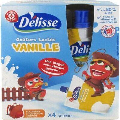 Goûters lactés saveur vanille en gourde (Délisse)