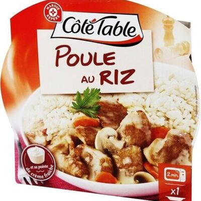 Poule au riz (Côté table)