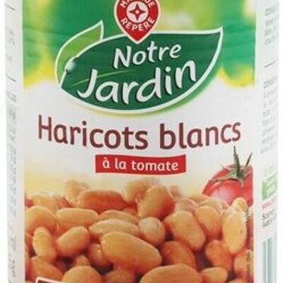 Haricots blancs tomate 1/2 (Notre jardin)