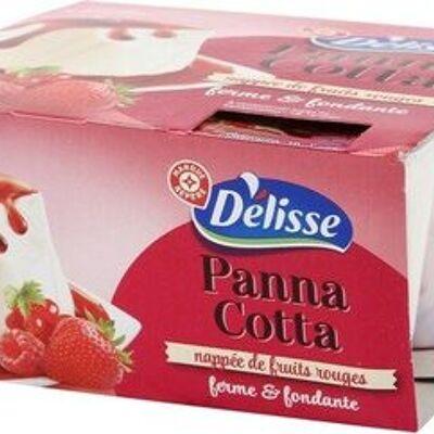 Panna cotta aux fruits rouges x 4 (Délisse)