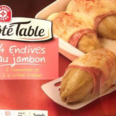 Endives au jambon surgelées x 4 (Côté table)