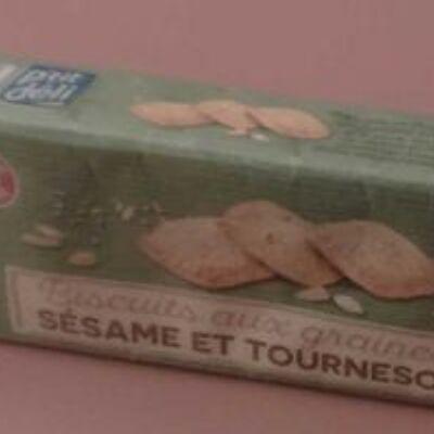 Biscuits aux graines de sésame et tournesol (P'tit déli)