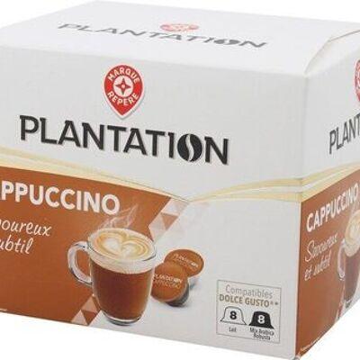 8 capsules cappucino (Plantation)