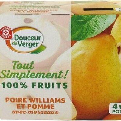 Spécialité de fruits avec morceaux poire williams et pomme (Douceur du verger)