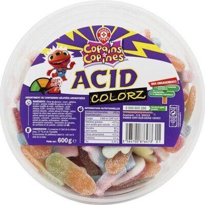 Assortiment gélifiés acid colorz (Marque repère)