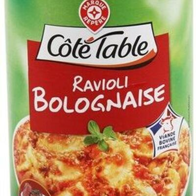 Ravioli bolognaise (Côté table)