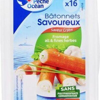Bâtonnets savoureux fromage ail et fines herbes x 16 (Pêche océan)