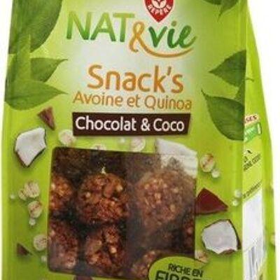 Snack's avoine et quinoa chocolat & coco (Nat&vie)