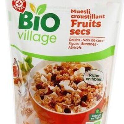 Muesli croustillant aux fruits bio (Bio village)