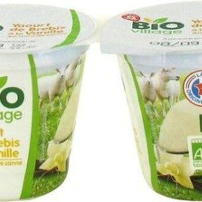 Yaourt au lait de brebis vanille (Bio village)