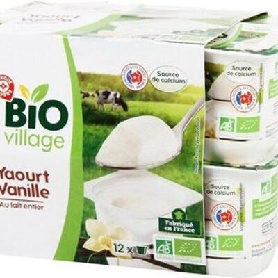 Yaourt sucre a la vanille bio (Bio village)