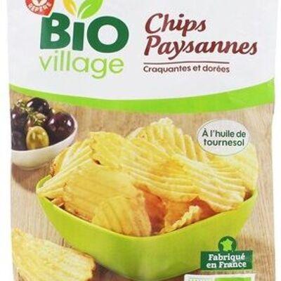 Chips paysannes craquantes et dorées bio (Bio village)