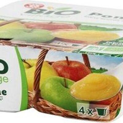 Purées de pomme bio 4 x 100 g (Bio village)