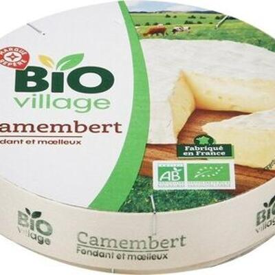 Camembert au lait pasteurisé 21% mat. gr. (Bio village)
