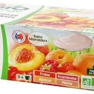 Yaourt brassé aux fruits bio sans morceaux (Bio village)