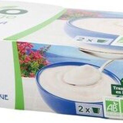 Yaourt à la grecque bio au lait entier x 2 (Bio village)