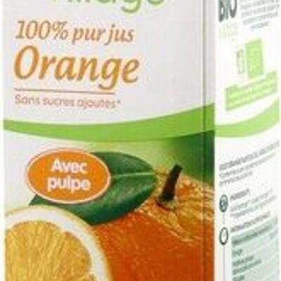 Pur jus d'orange bio avec pulpe (Bio village)
