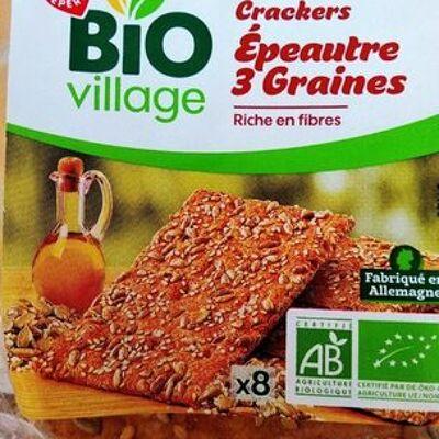 Crackers bio épeautre 3 graines (Bio village)