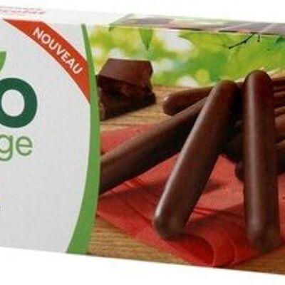Bâtonnets enrobés de chocolat noir bio (Bio village)