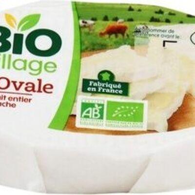 Ovale au lait entier bio 25% mat. gr. (Bio village)