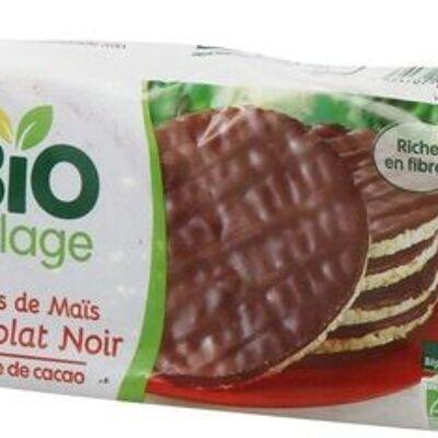 Galettes de maïs nappées chocolat noir bio (Bio village)