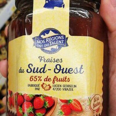 Préparation de fraises du sud-ouest (Nos régions ont du talent)