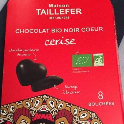 Chocolat bio noir coeur cerise (Maison taillefer)