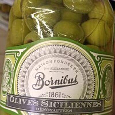 Olives siciliennes dénoyautées (Bornibus)