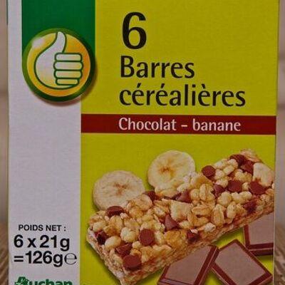 Barres céréalières chocolat-banane (Pouce)
