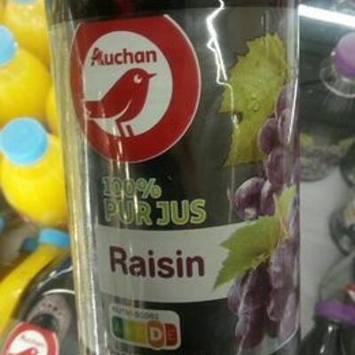 100% jus raisin (Auchan)