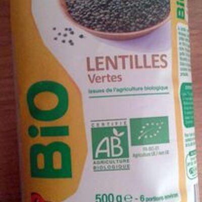 Lentilles vertes (Auchan)