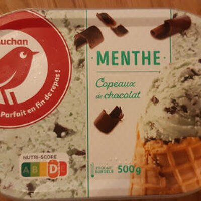 Glace menthe chocolat (Auchan)