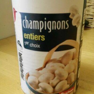 Champignons entiers 1er choix (Auchan)
