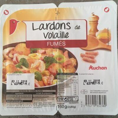 Lardons volaille fumés (Auchan)