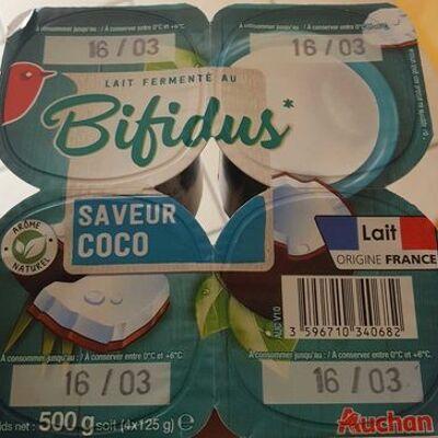 Yaourt saveur coco au bifidus auchan (Auchan)