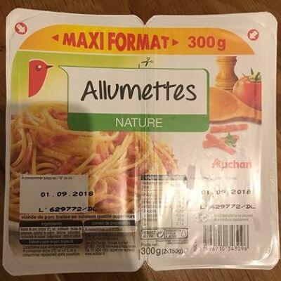 Allumettes de lardon nature (Auchan)