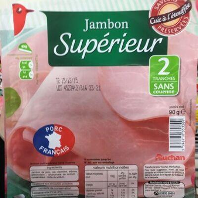 Jambon supérieur - 2 tranches - sans couenne (100g) (L'oiseau)
