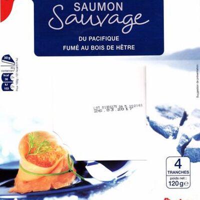 Saumon sauvage du pacifique fumé au bois de hêtre (Auchan)