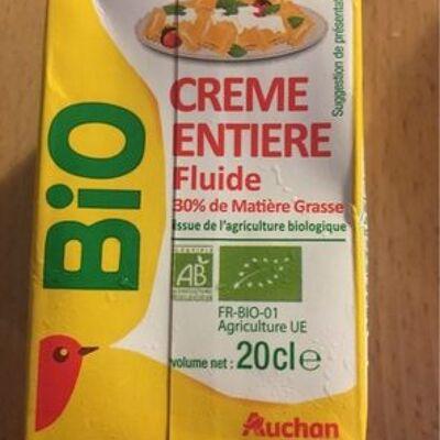 Crème entière fluide bio (30 % mg) (Auchan)