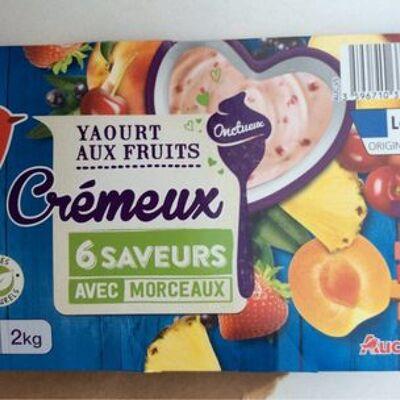 Yaourt aux fruits cremeux avec morceaux (Auchan)
