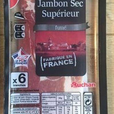 Auchan jambon sec fume 6t 100g (Auchan)
