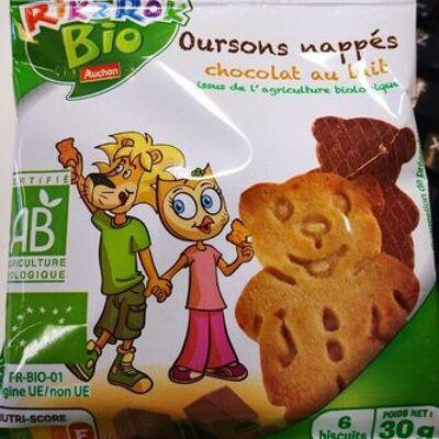 Oursons nappés chocolat au lait (Rik & rok bio)
