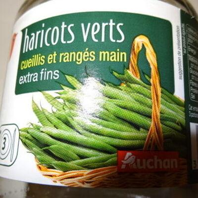 Haricots verts cueillis et rangés main extra-fins (Auchan)