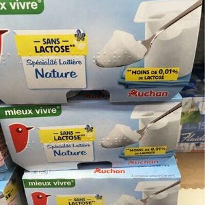 Yaourt sans lactose (Auchan)