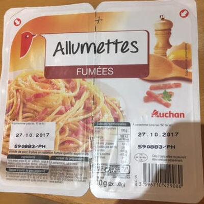 Allumettes fumées (Auchan)