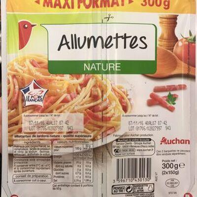Allumettes nature (maxi format) (Auchan)