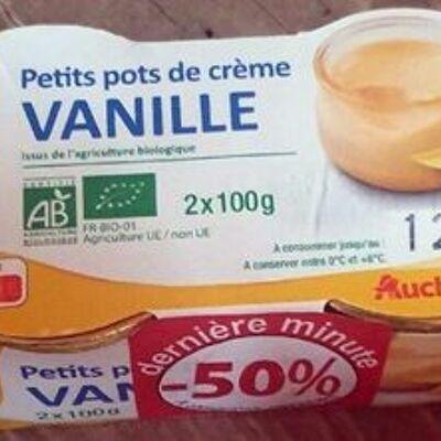 Petits pots de crème vanille (Auchan bio)