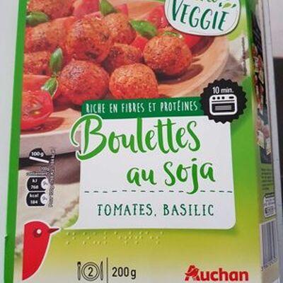 Boulettes au soja - tomates, basilic (Auchan)
