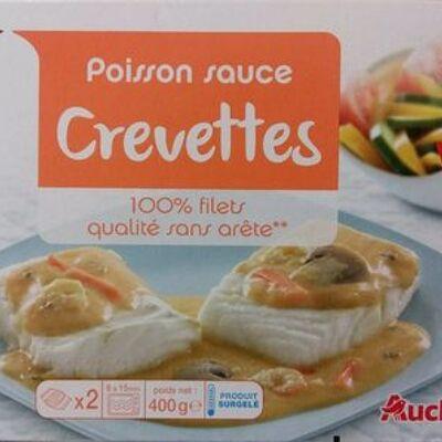 Poisson sauce crevettes (Auchan)